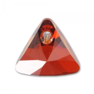 Pendente Triangolo Swarovski 6628 12 mm Crystal Red Magma x1