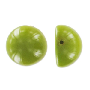 Dome Beads 14x8 mm Pea Green x5