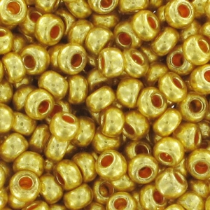 Rocailles mm. 2,5 Galvanized Gold x10gr