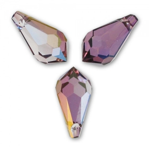 Gocce Swarovski 6000  mm. 13x6.5 Crystal Lilac Shadow x4