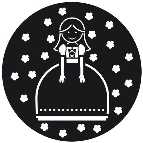 Stencil di cucina per dolci 22 cm principessa x1 perles co for Stencil x cucina