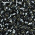 Rocailles mm. 2,5 Black Diamond Silver Lined x10g