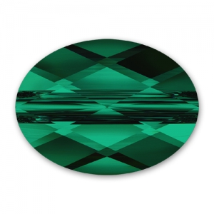 Mini Oval Swarovski 5051 mm.  8x6 Emerald x1