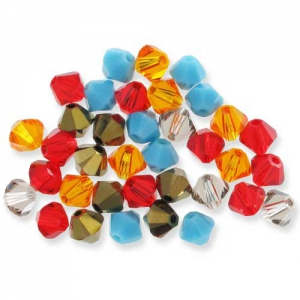 Mix di Biconi Swarovski mm. 4 Inca x50