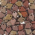 Dragon Scale Bead 1.5x5 mm Bronze Mix x5g