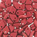 Dragon Scale Bead 1.5x5 mm Red Metallic Mat x5g