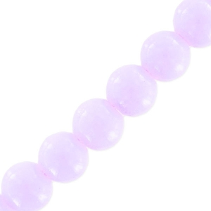 Tonde imitazione gemme 6 mm Light Amethyst x130
