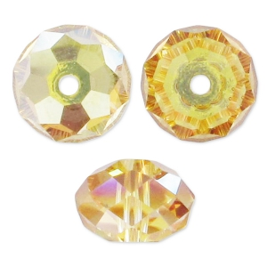 Sfere piatte Swarovski 5040 mm. 4 Crystal Metallic Sunshine x20