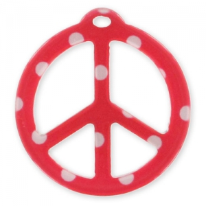 Pendente Peace mm. 26 Pois Rosso x1
