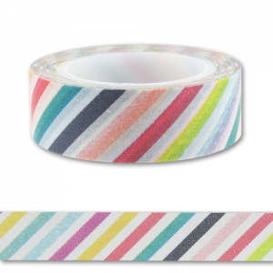 Nastro adesivo 15 mm Stripes Multicolore x10m