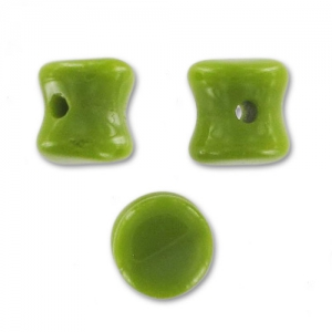 Diabolo Shape Pellet Beads 4x6 mm Olivine Opaque x50