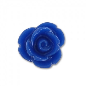 Cabochon in resina rosa mm. 7 Blu scuro x10