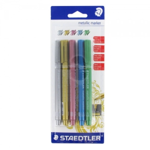 Assortimento di 8 penne Metallic Marker 1-2mm x5