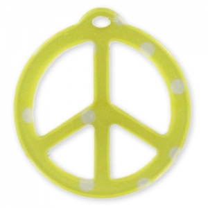 Pendente Peace mm. 26 Pois Giallo x1