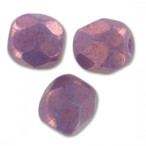 Sfaccettate mm. 4 Opaque Luster Amethyst x50