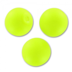 Perla tonda mm. 8 Neon Yellow Mat x20