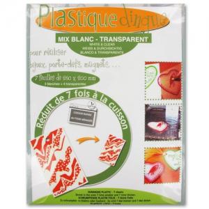 Plastica magica mm. 260x200 Mix Bianco - Trasparente x7 fogli