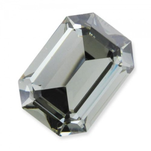 Cabochon Swarovski 4610 Rettangolo mm. 14x10 Black Diamond x1