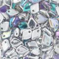 Dragon Scale Bead 1.5x5 mm Crystal Silver Rainbow x5g