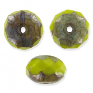 Donuts mm 9x6 Opaque Olive Travertin x25