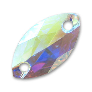 Cabochon 3223 mm. 18x9 Crystal AB x1