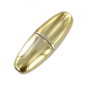 Chiusura magnetica 31 mm per cordone 3 mm light gold x1