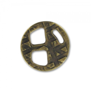 Chiusura intercalare 18mm per lacetto 5mm bronzo x1