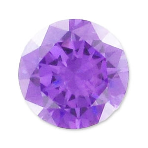 Cabochon Zirconio cubico tondi mm. 3.25 Medium Purple x10