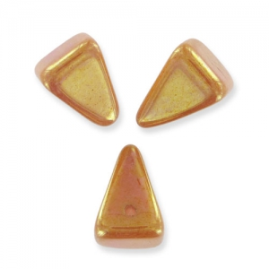 Pyramid Spikes 7x11mm Opaque Rose Ceramic Look x6