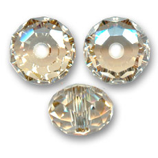 Sfera schiacciata Swarovski 5041 mm. 18 Crystal Golden Shadow x1