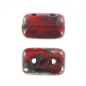 Rulla 3x5 mm Red Coral Picasso x10g