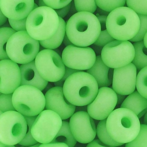 Rocailles 7/0 - mm.3.5 Opaco Verde Fluo x10g