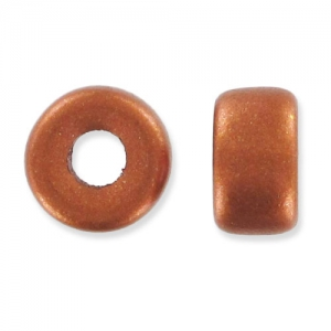 Pony Beads 6mm Copper Mat x15
