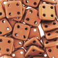 Czechmates Quadratile 4 fori mm.6 Red Copper Mat x5g