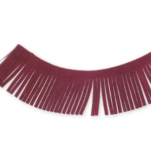 Nastro frange Ultra Suede mm. 28 Bordeaux x1,6m