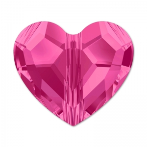 Love Bead Swarovski 5741  mm.  8 Fucsia x1