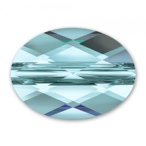Mini Oval Swarovski 5051 mm.  8x6 Aquamarine x1