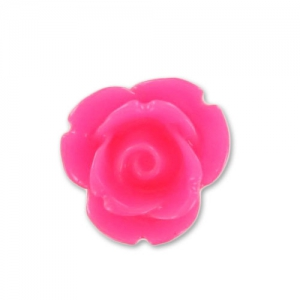 Cabochon in resina rosa mm. 7 Hot Pink x10
