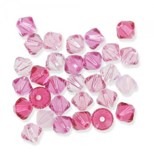 Mix di Biconi Swarovski mm.3 Rosa x50