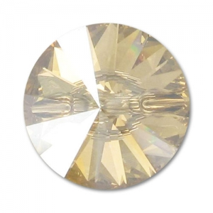 Bottone Swarovski 3015 mm. 12 Crystal Golden Shadow