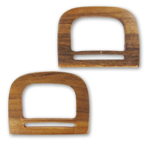 Manici quadrati di legno per borsa 140x105 mm naturale x2 for 2 piedi quadrati per garage