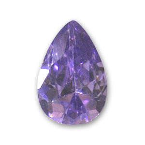 Cabochon Pera Zirconio cubico mm. 6x4 Medium Purple