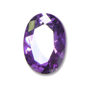 Cabochon ovale Zirconio cubico mm. 7x5 Medium Purple
