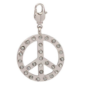 Peace strass mm. 30 Crystal x1
