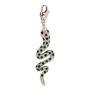 Serpente strass Emerald mm. 53x17 x1