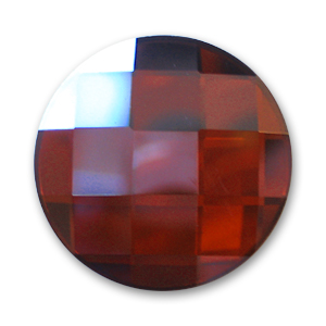 Cabochon Swarovski 2035 tondo mm. 10 Crystal Red Magma