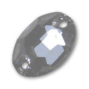Cabochon 3210 forato ovale mm. 10x7 Crystal Silver Night