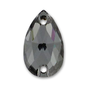 Cabochon 3230 forato pera mm. 12x7 Crystal Silver Night x1