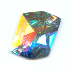 Cabochon 3265 forato Cosmic mm. 20x16 Crystal AB