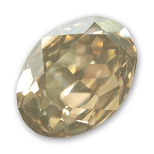 Cabochon Swarovski 4120 ovale mm. 25x18 Crystal Golden Shadow x1